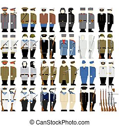 Soviet soldiers and weapons - Uniforms and weapons of Soviet...