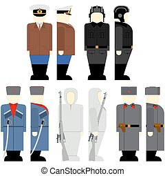 Soviet soldiers since the 2nd World - Uniforms and weapons...