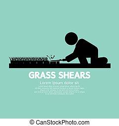 Grass Shears Vector Illustration