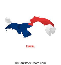 Map of Panama a Vector Illustration