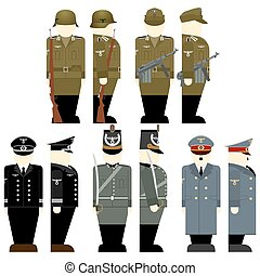 The soldiers of the Wehrmacht - Uniforms and weapons of...