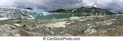 Picturesque panorama of the Jostedalsbreen glacier Norway