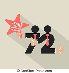72nd Years Anniversary Typography Design Vector Illustration