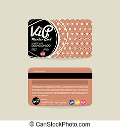 Front And Back VIP Member Card