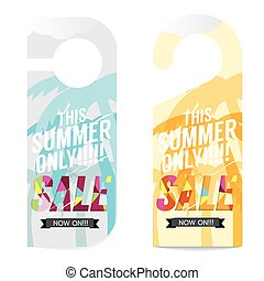 Summer Sale Tag Template Vector Illustration