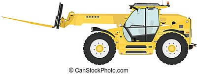 Telehandler - Telescopic handler equipped with fork on a...