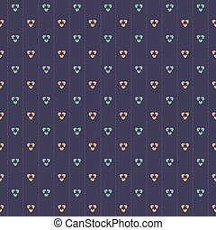 Navy Blue Seamless Pattern - Pink And Blue Graphic On Navy...