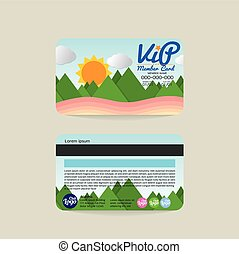 VIP Member Card Template - Front And Back VIP Member Card...