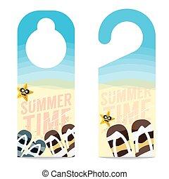 Summer Vacation Concept Door Hanger - Flipflop And Star Fish...