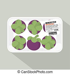 Mangosteen Pack Vector Illustration