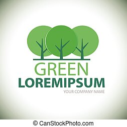 Logo green tree