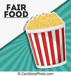 pop corn fair food snack carnival icon - pop corn fair food...