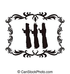 wise man holy family christmas design - wise man holy family...