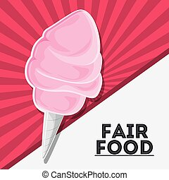fair food snack carnival icon - cotton candy fair food snack...