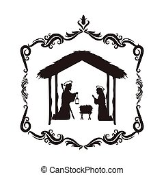 joseph mary holy family christmas design - joseph mary holy...