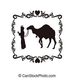 wise man camel holy family christmas design - wise man camel...