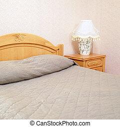 Motel - bed in motel room