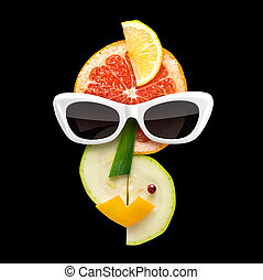 Fruity Picasso - Quirky food concept of Picasso style female...