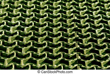 Plastic green floor cover texture.