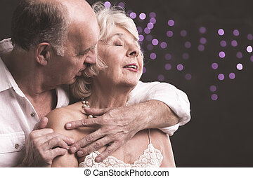 Love each moment close to you - Shot of elder woman with...
