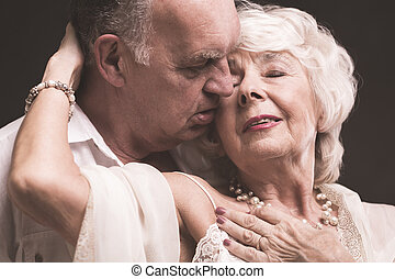 Intimate moments with life lover - Shot of elder woman with...