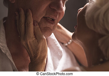 Closeness of your mouth - Close shot of elder womans hands...