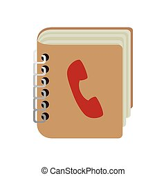contacts book phones notebook