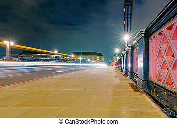 Lambeth Bridge at night - Night view of Lambeth Bridge