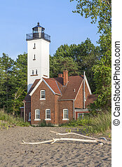 Lighthouse at Erie Pennsylvania - Built in 1872, the Presque...