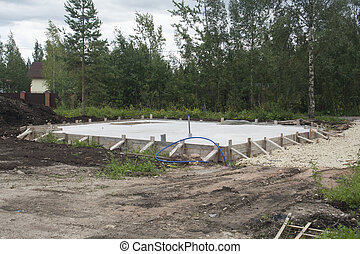 foundation for new rural house - concrete foundation for new...