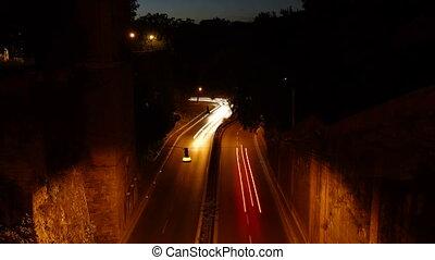 Viale del Muro Torto at night Time - Viale del Muro Torto...