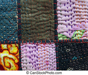Background of colorful patchwork fabrics for desygn