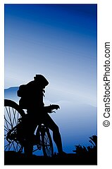 mountain bikers Convertedeps - Mountain bikers illustrations...