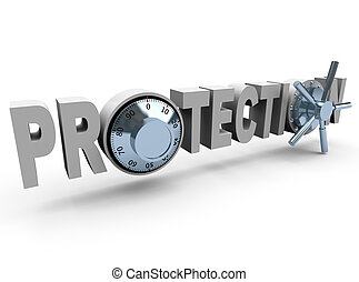Protection - Word and Safe Dials - The word Proteciton with...
