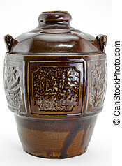 Chinese wine jar - Rice wine in the ceramic jar,chinese...
