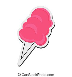 cotton candy icon - flat design cotton candy icon vector...