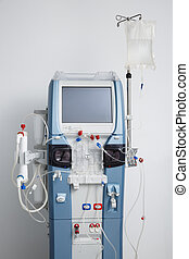 Hemodialysis machine with tubing and installations Health...