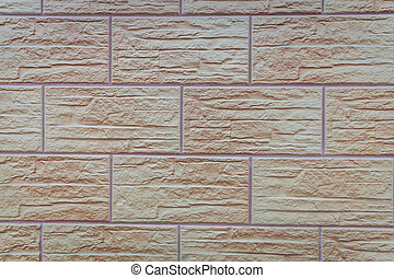 Brick ornamental wall of a modern building