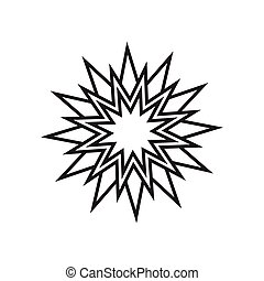 Star simple vector icon