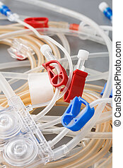 Tubes of hemodialysis machine - Bloodline tubes of...