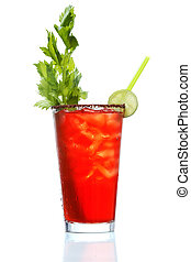 Bloody Mary - Stock image of Bloody Mary over white...