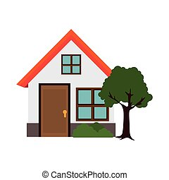 house residential architecture modern building tree