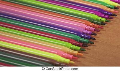 Color felt-tip pens Close up