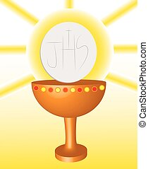 first Communion, Eucharist 2. - It is a vector illustration...