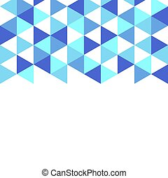 Blue shapes on a white background.