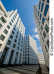 Modern business architectural background - Modern business...