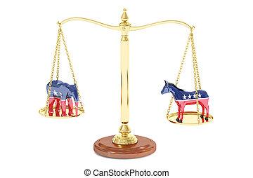 概念,  rendering, 選舉, 美國,  3D