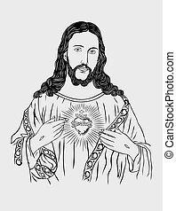 Jesus Christ, art vector design