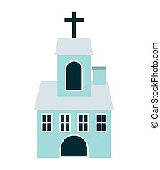 church building isolated icon
