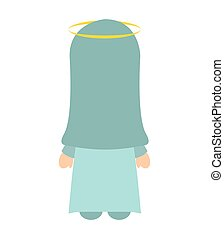 manger character cartoon isolated icon vector illustration...